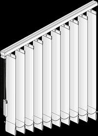 vertikal lamellenvorhang vertikal jalousie nach ma. Black Bedroom Furniture Sets. Home Design Ideas